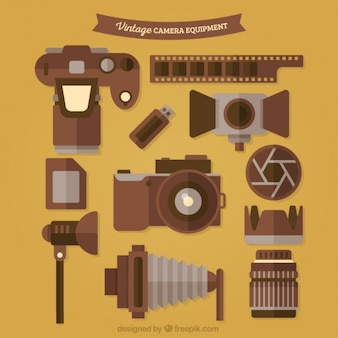 Collection of vintage photography equipment
