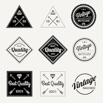 Collection of vintage retro badge
