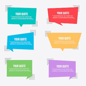 Collection of vintage speech bubbles for quotes