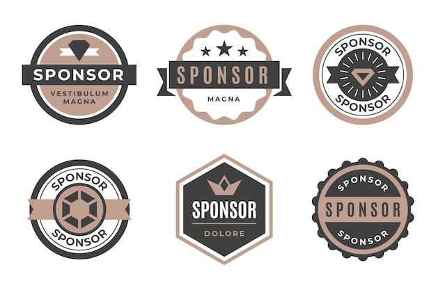 Collection of vintage sponsor label