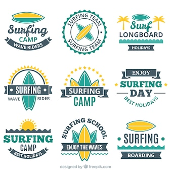 Collection of vintage surf sticker
