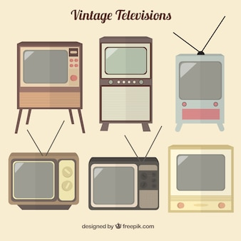 Collection of vintage televisions