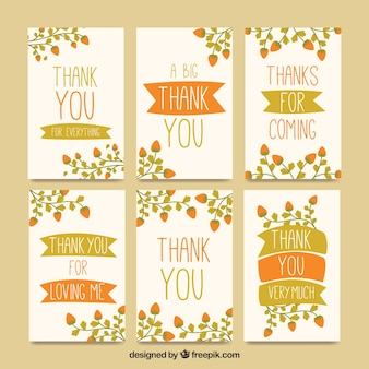 Collection of vintage thank you cards