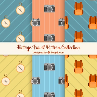 Collection of vintage travel pattern