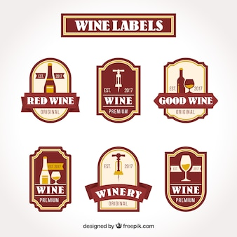 Collection of vintage wine stickers