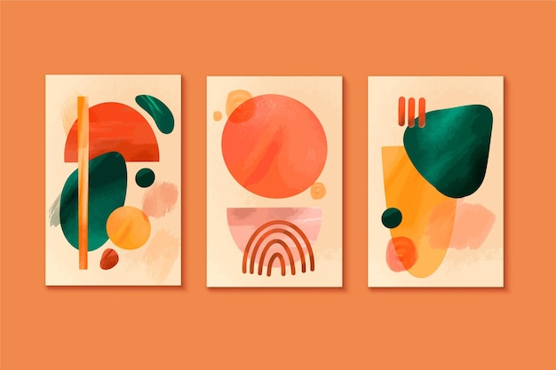 Collection of watercolor abstract covers