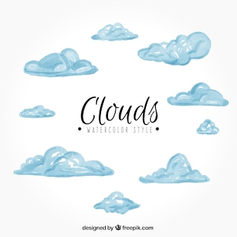 Raccolta di nuvole acquerello