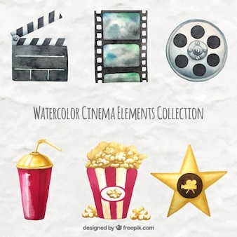 Collection of watercolor film element