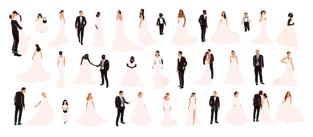 Collection of wedding couples