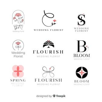 Collection of wedding florist logos