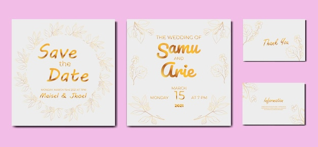 Collection of wedding invitation flower