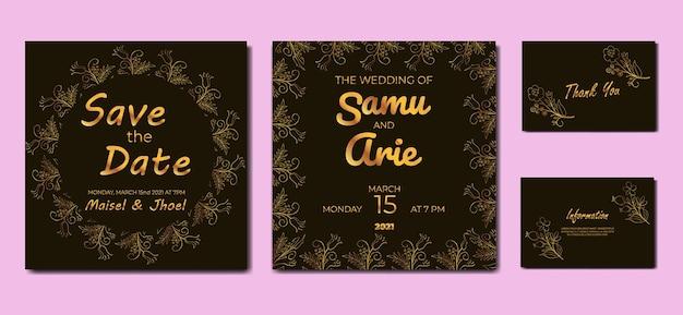 Collection of wedding invitation luxury