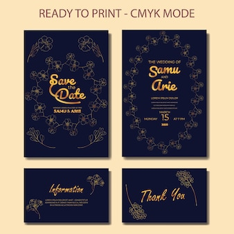 Collection of wedding invitation