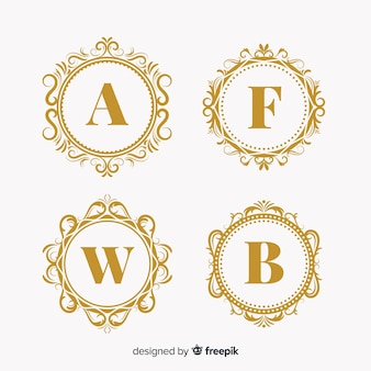 Collection of wedding monogram logos