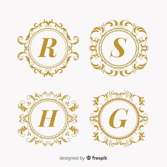 Collection of wedding monogram logos