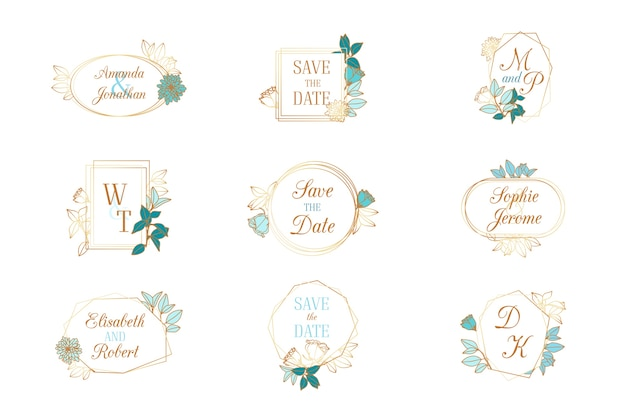 Collection of wedding monograms