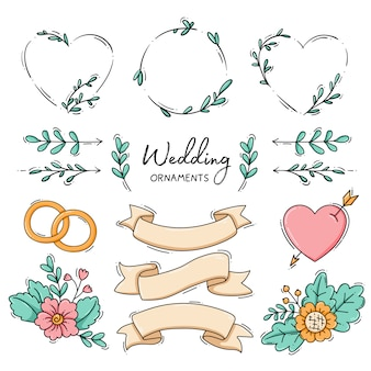 Collection of wedding ornament
