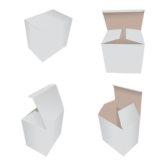 Collection white box packaging