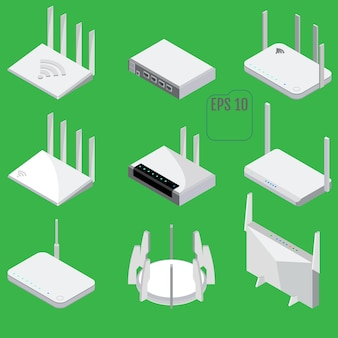 Collection of wireless routers