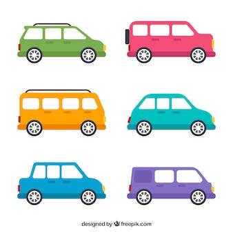 車の異なるタイプのコレクション