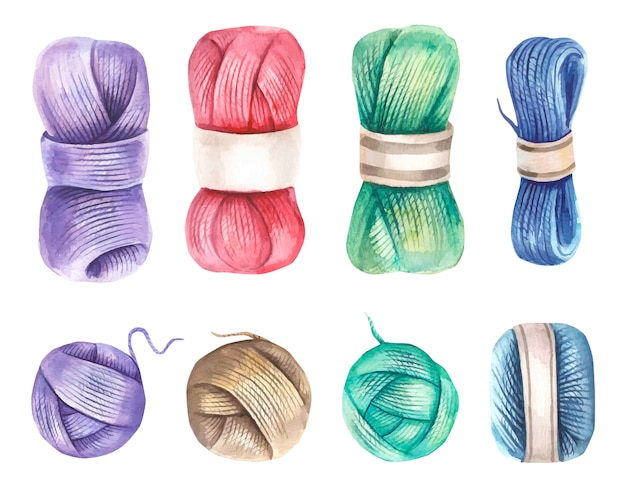Collection with watercolor yarn.