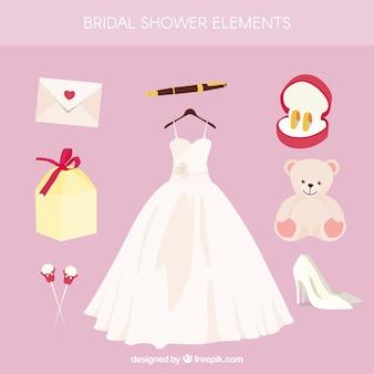 Коллекция с свадебное платье и другие украшения
