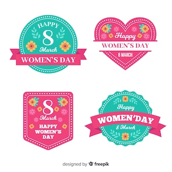 Collection of womans day labels