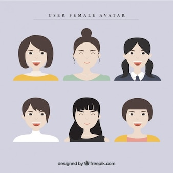 Collection of women user avatar