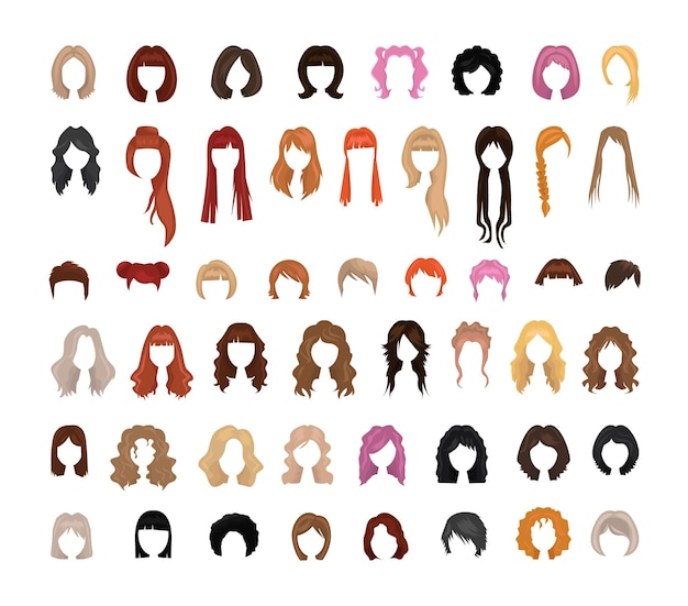 Collection of womens hairstyles
