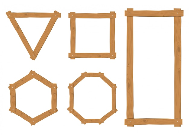 Collection of wooden border frames