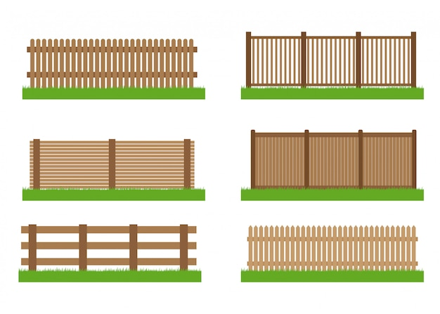 Collection of wooden fence  set