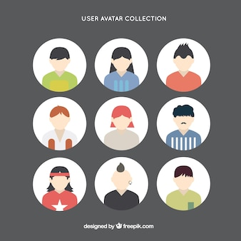 Collection of young people avatar