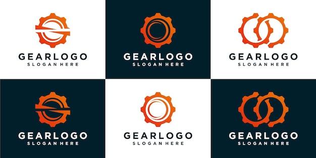Коллекции шаблона логотипа gear