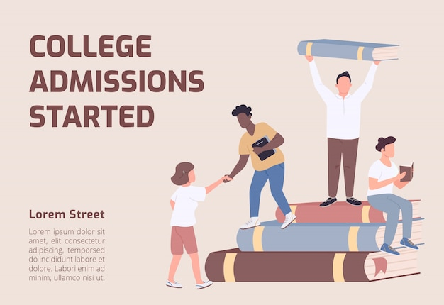 College admissions started