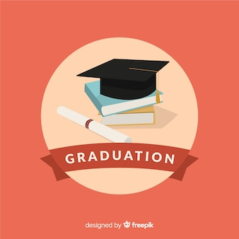 College background with mortarboard