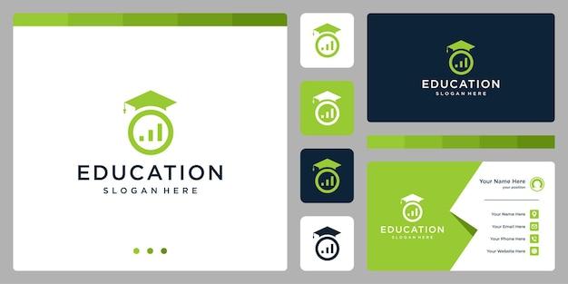 대학, 대학원, 캠퍼스, 교육 로고 디자인. 및 투자 로고. 명함