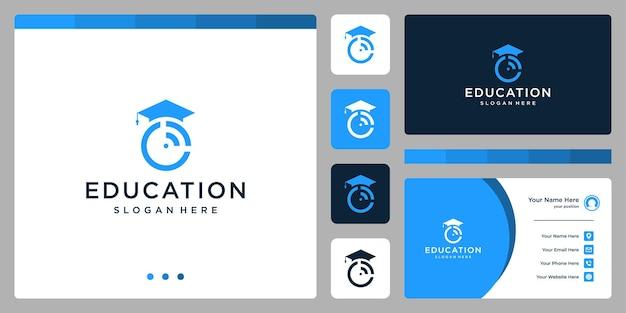 대학, 대학원, 캠퍼스, 교육 로고 디자인. 및 신호 로고. 명함
