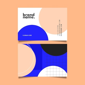 Coloful business card template