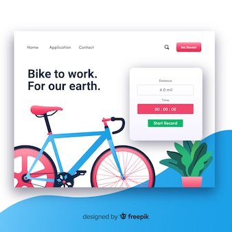 Coloful landing page template