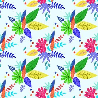 Colofulの葉とのシームレスなパターン