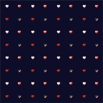 Coloful сердца регулярное повторение на темно-синем фоне