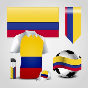 Colombia flag design vector