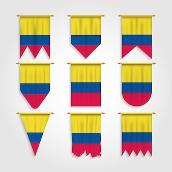 Colombia flag in various shape