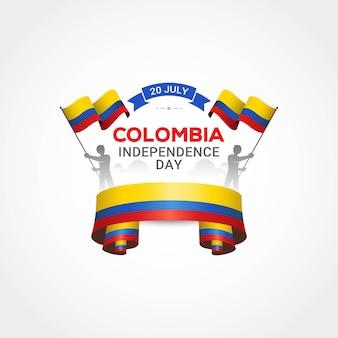 День независимости колумбии с государственным флагом