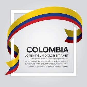Флаг колумбии ленты, векторные иллюстрации на белом фоне