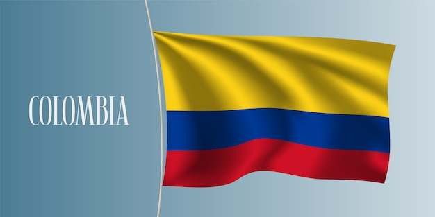 Colombia waving flag  illustration
