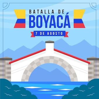 Illustrazione di batalla de boyaca colombiana