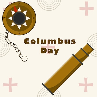 コロンブスの日フラット背景