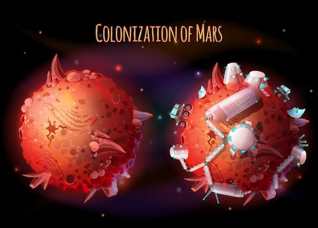 화성의 식민지, 탐사 및 테라포밍