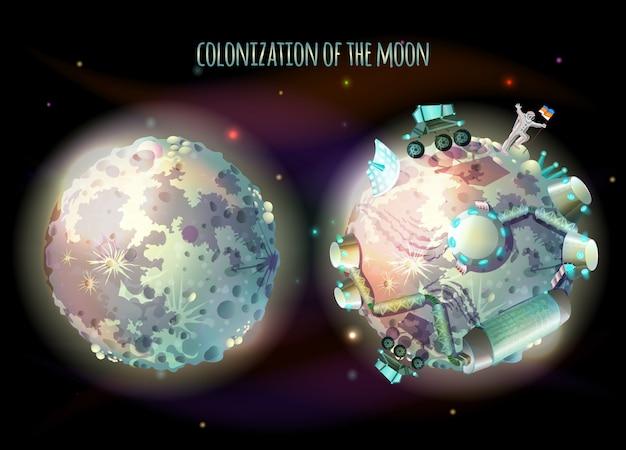 Колонизация, разведка и терраформирование луны, спутника земли